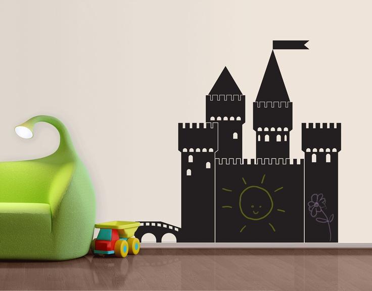 Castle Chalkboard Decal by www.yourdecalshop.co.nz