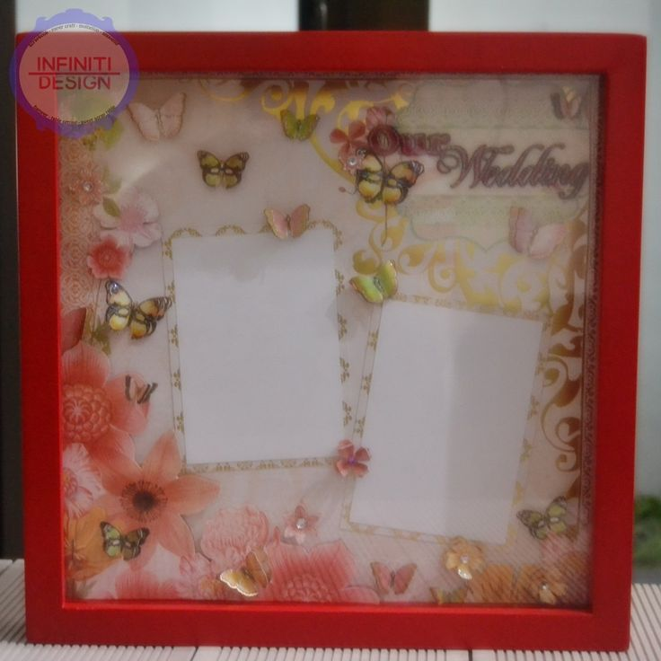 """30x30cm wedding srapbook using DCWV """"The Butterfly Garden Stack"""""""
