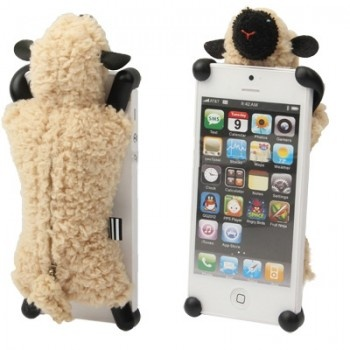 3D Cute Plush Sheep Doll Protected Case for iPhone 5