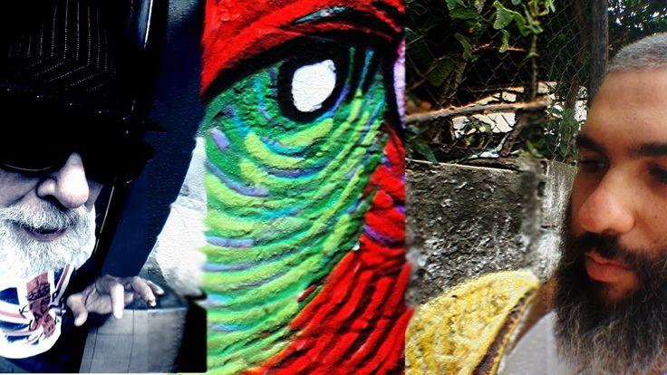 Arte na Rua - Grafite Vídeo  sobre um artista de grafite, Luiz Gonzaga, embelezando as ruas de São Paulo. Gostei de ver que ele pediu permissão para o proprietário para grafitar.
