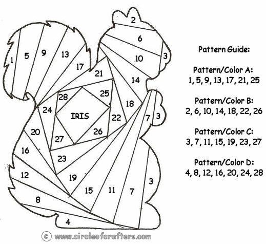 free printable iris folding patterns