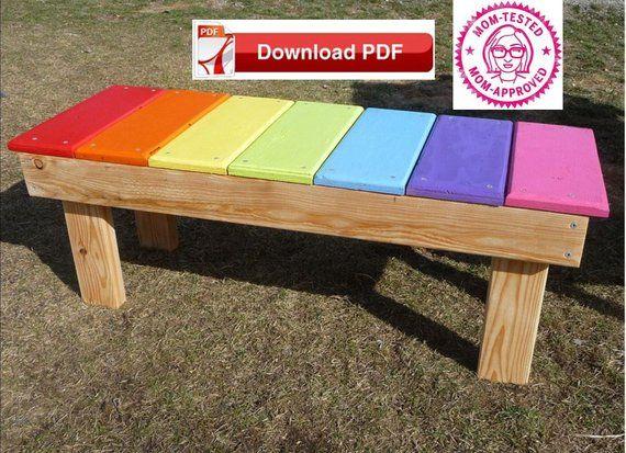 Bench Seat Plan Wood Bench Plan Toddler Wood Bench Plan Bench Etsy Wood Bench Plans Kids Bench Garden Bench Plans
