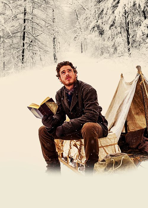 reading in the snow: