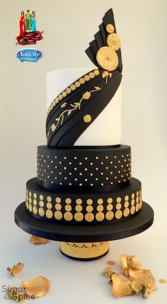 'Kalyani' - My Elegant Indian Fashion Collab Cake