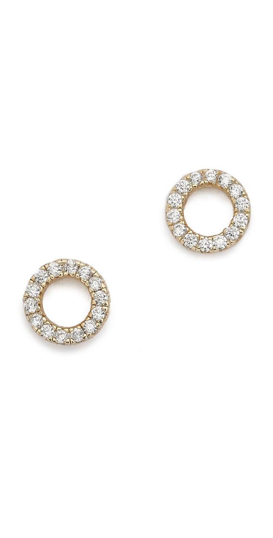 Shashi Diamond Circle Earrings   SHOPBOP $50