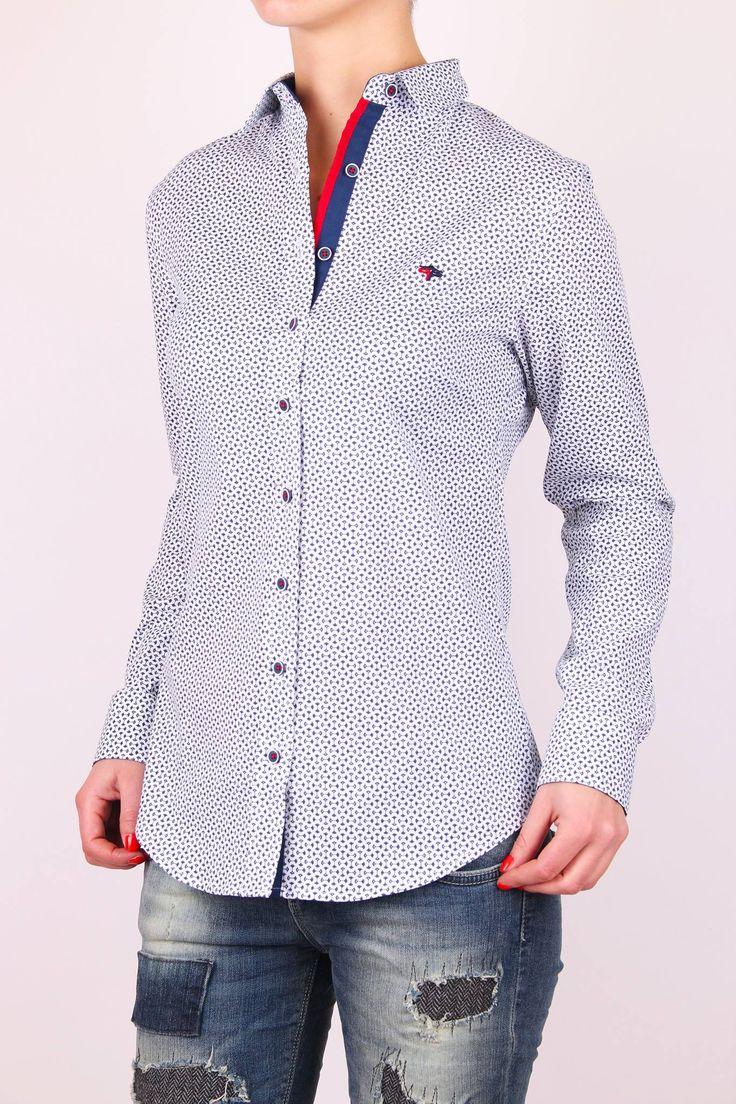 Dámska košeľa bielomodrá