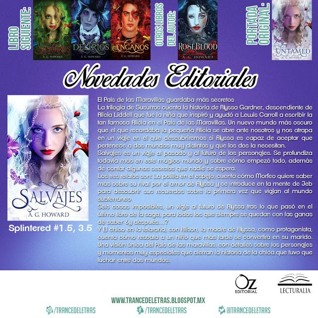 """Salvajes"" (Splintered #1.5, 3.5) de A.G. Howard"