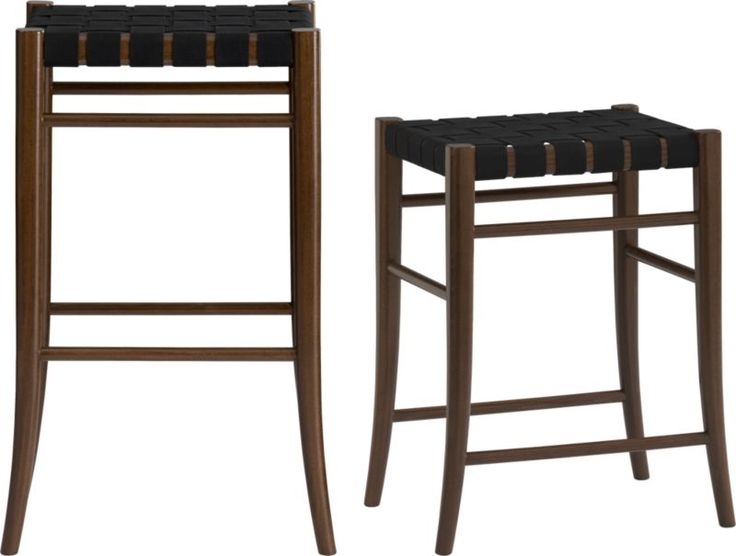 Crate & Barrel - Oslo Black Backless Bar Stools (counter height available) - 95 Best Bar Stools Images On Pinterest
