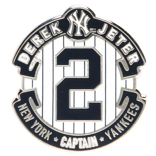 New York Yankees Derek Jeter Retirement Logo Pin by Aminco International - MLB.com Shop