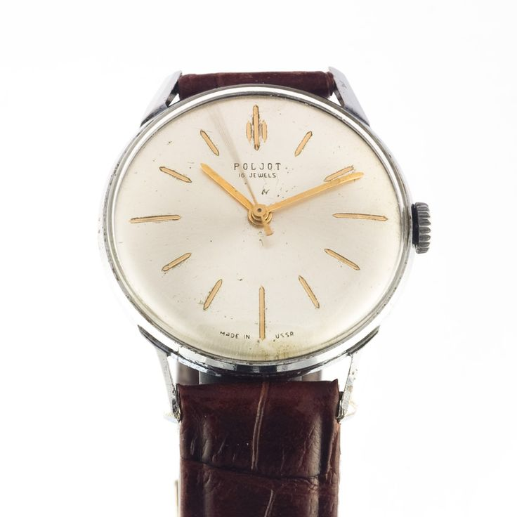 Elegant Poljot watch that matches to your office look