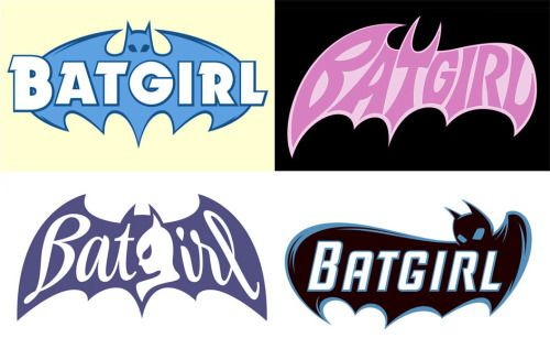 Proposed BATGIRL logos by Rian Hughes - http://devicefont.co.uk