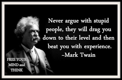 Stupid people - never argue with them