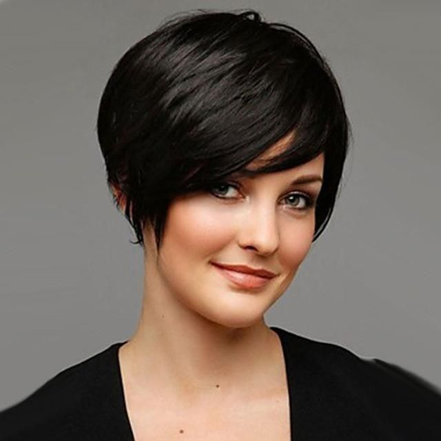 """10"""" Short Pixie Wig for Black Women Cheap Synthetic African American Realistic Wig Short Hairstyle Afro Perruque"""