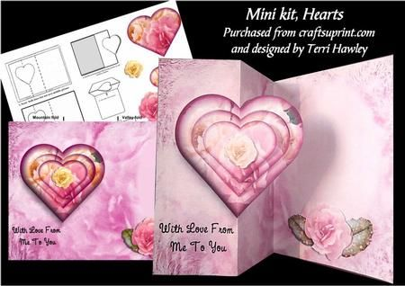 a beautiful card, for many different reasons.  Words on the front just say With Love From me to you. Has hearts and roses.