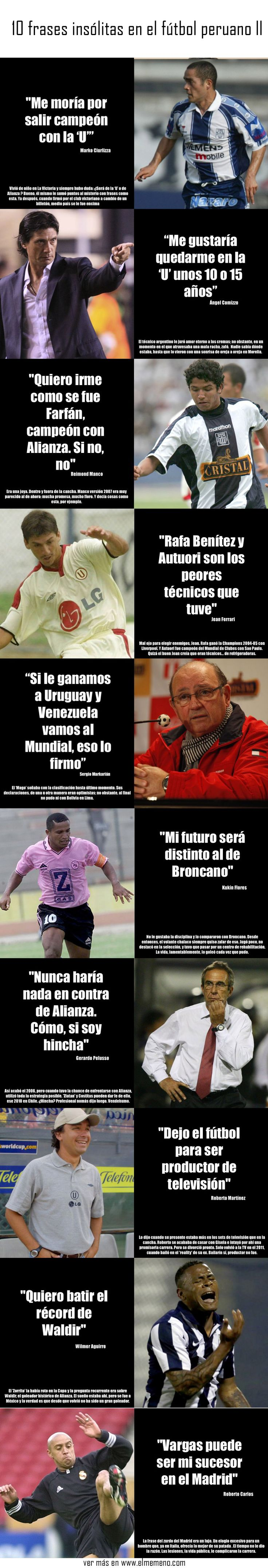 10 frases insólitas en el fútbol peruano parte ll @ www.elmemeno.com