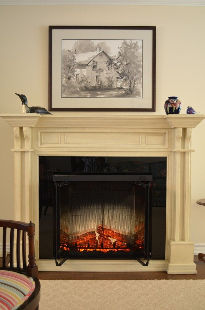 Beautiful dimplex electric fireplace in Living Room Traditional with next to alongside and Dimplex Fireplace