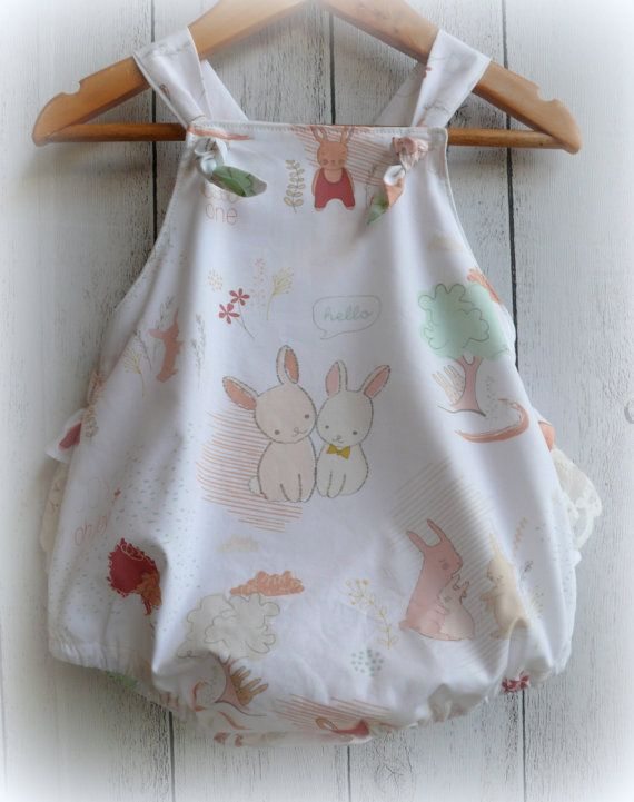 Baby+Girls+Ruffle+Bum+Bunny+Romper+with+lace+by+LittleMacsClothing,+$40.00