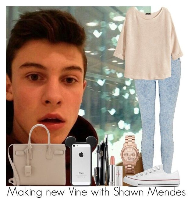 Making new Vine with Shawn Mendes by irish26-1 on Polyvore featuring polyvore, fashion, style, H&M, Converse, Yves Saint Laurent, MICHAEL Michael Kors and Lancôme