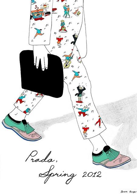 Prada, Mens Spring 2012 by Janelle Burger