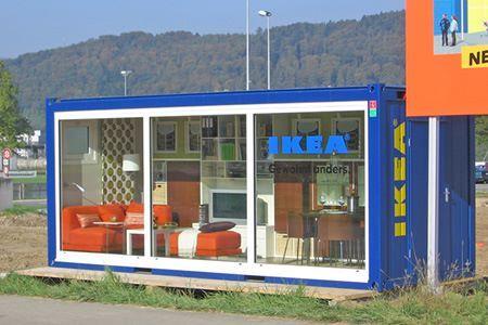 Contenedor como sala de exposición, CH-Spreitenbach - CONTAINEX