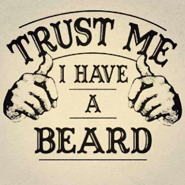 confie que eu tenho uma barba