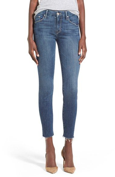 $189  MOTHER+'TheLooker'Frayed+Ankle+Jeans+(Girl+Crush)+available+at+#Nordstrom