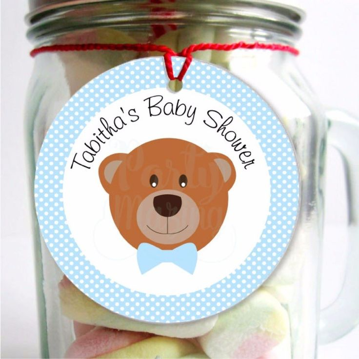 Tags for Tabitha's baby shower a cute teddy bear theme to welcome a cute baby #babyshowerideas #babyshower #printable #partyideas #etsyshop