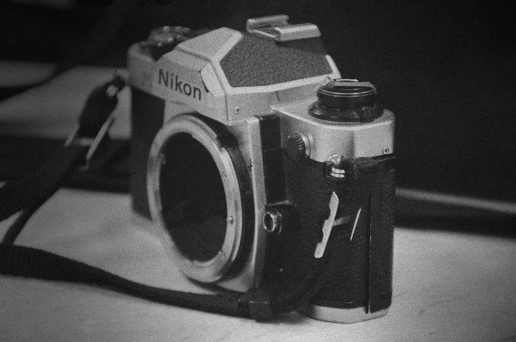 Nikon. Analog camera.