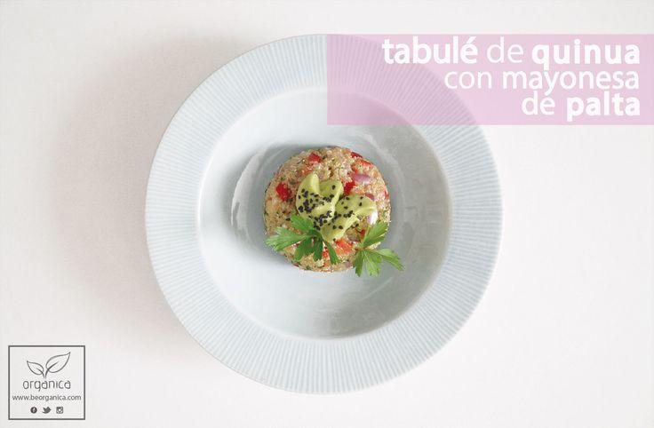Tabulé de quinua con mayonesa de palta   be organica