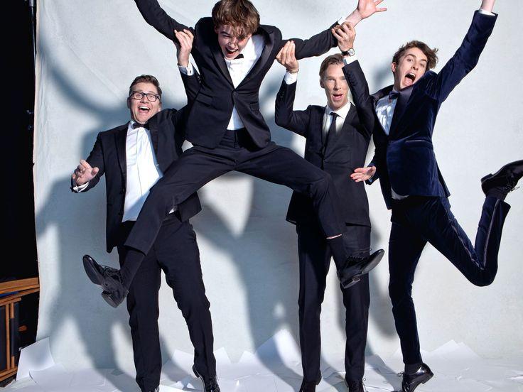 Allen Leech, Alex Lawther, Benedict Cumberbatch and