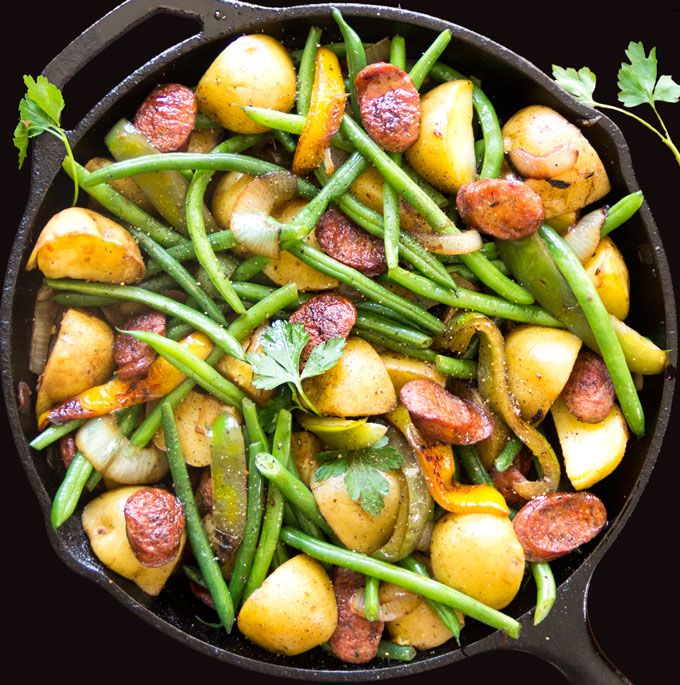 Check out Sausages, Onions, Potatoes, Peppers and Green ...