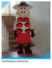 Hohe qualität großhandel schwein maskottchen kostüm, maskottchen kostüm für familie