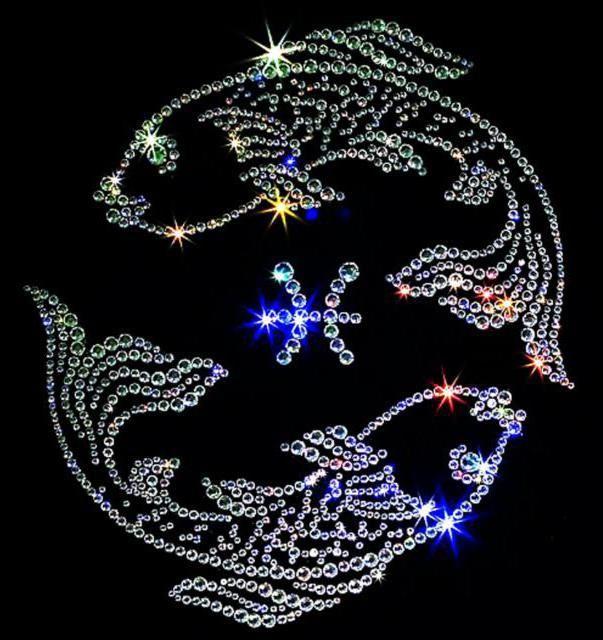 Оригинал схемы вышивки «Знак зодиака - рыбы»