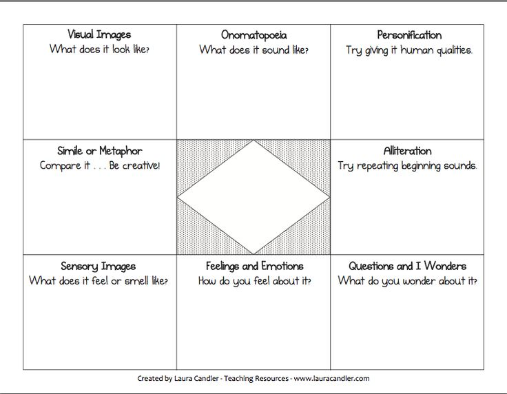 free graphic organizer for writing a poem