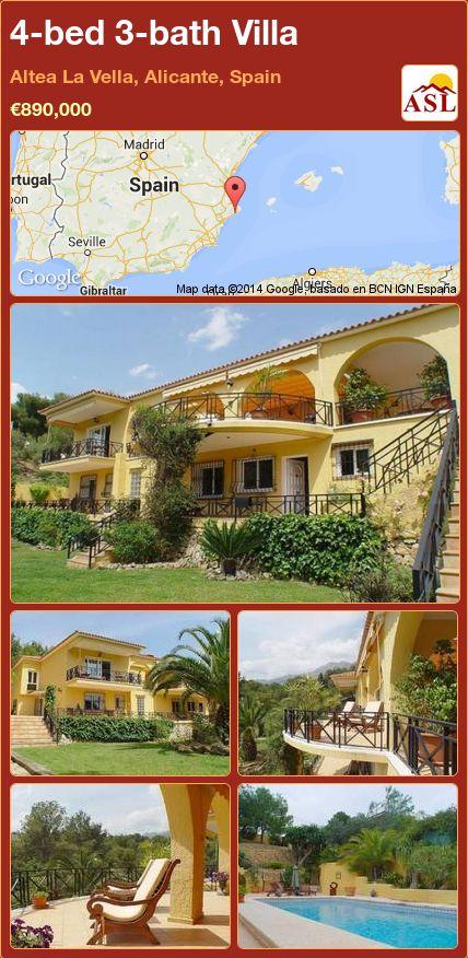 4-bed 3-bath Villa in Altea La Vella, Alicante, Spain ►€890,000 #PropertyForSaleInSpain