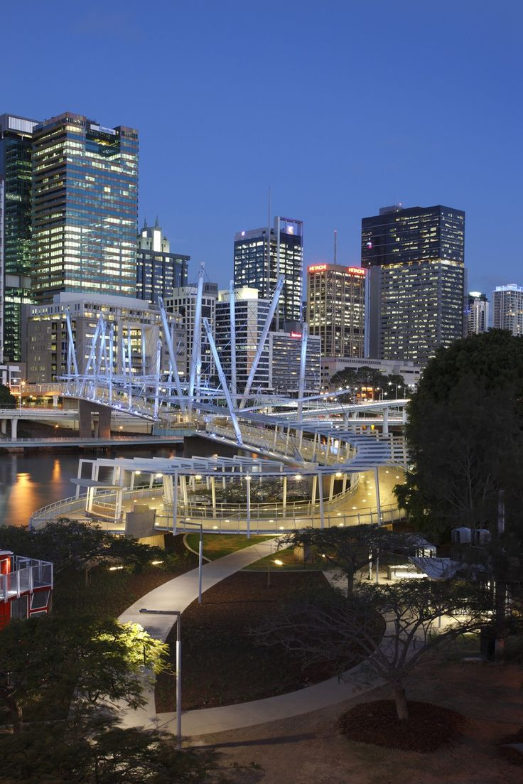 Longest tensegrity bridge - Brisbane,AUSTRALIA - by Cox Rayner and Arup http://houses-for-sale-in-australia.com/