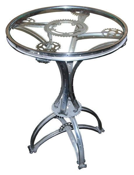 SteamPunk 'Gueridon' table made of Bicycle by lavintagefurnishings, $895.00