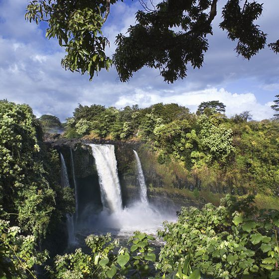 Rainbow Falls is a main attraction in Hilo, Hawaii.