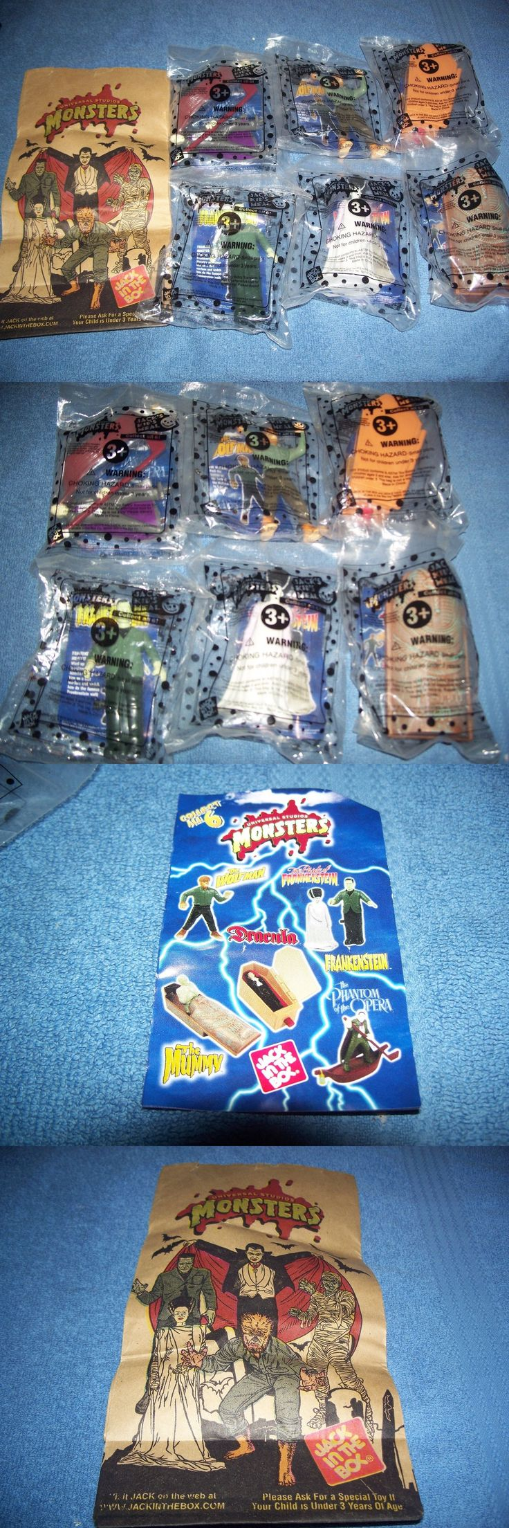 Monster 1192: Jack In The Box Monsters Set 6 Figures Frankenstein Wolfman Dracula Mummy And Bag -> BUY IT NOW ONLY: $100 on eBay!