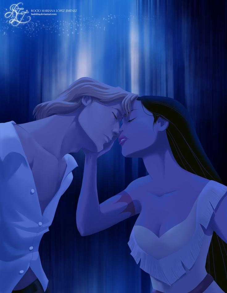 Pocahontas and John - disney-princess Fan Art