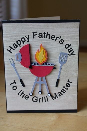 Hand made Father's day card. Masculine Card. Grill card.