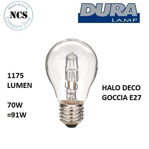 Lampadina Alogena DURA 70W = 91W Risparmio Energetico