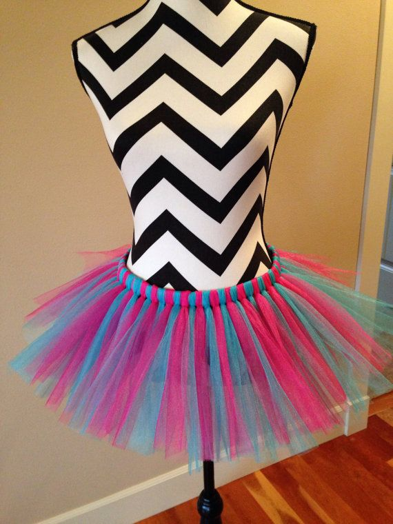 Pink and turquoise running tutu bachelorette by PaytonsInspiration