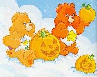 care halloween bear bears happy cartoon regression age characters friend childhood rainbow lanterns jack cartoons coloring rock painting fun uploaded