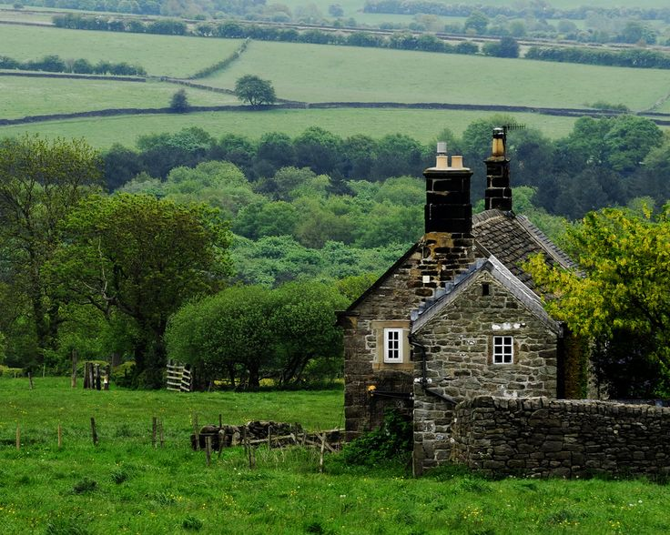 FARMHOUSE – an ancient stone house on a farm in Derbyshire England photo vi