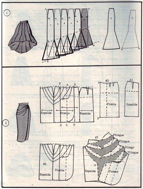 Моделирование юбок (подборка) / Выкройки ретро /Modeling skirts (selection) / Patterns Retro
