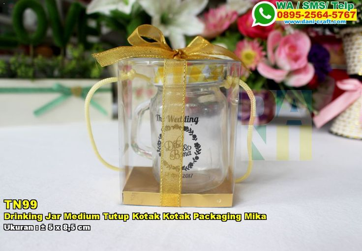 Drinking Jar Medium Tutup Kotak Kotak Packaging Mika WA 0857-4384-2114 & 0819-0403-4240 #DrinkingJar #TokoJar #undanganPernikahan #souvenirPernikahan
