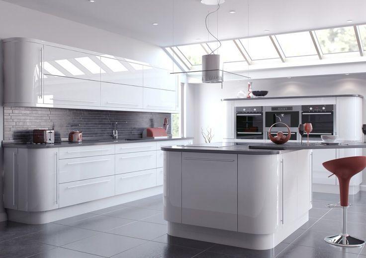 Image result for white gloss kitchen with grey worktops - preisliste nobilia küchen