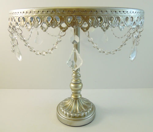 tall wedding cake stand silver glass jeweled cake pedestal cupcake stand 20744