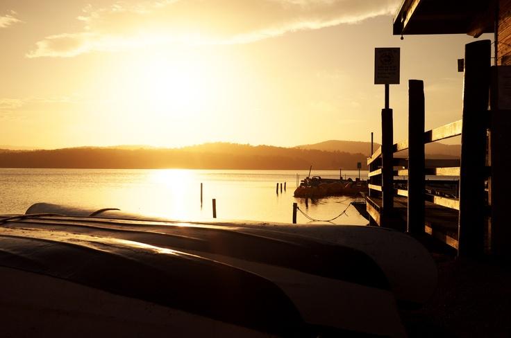 Merimbula Top Lake sunset.